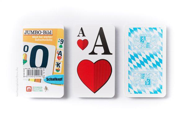 Schafkopfkarten mit Jumbo-Bild