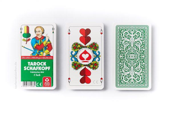 Schafkopfkarten mit fränkischem Bild